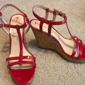 Beautiful red platform  👠 shoes